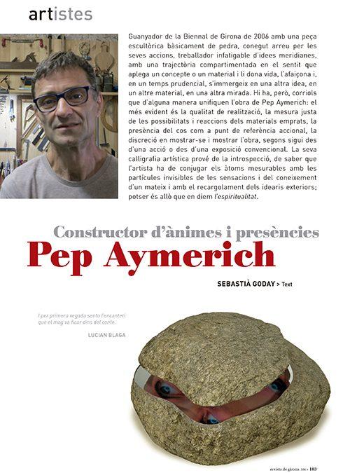 Pep Aymerich: CONSTRUCTOR D'ÀNIMES I PRESÈNCIES