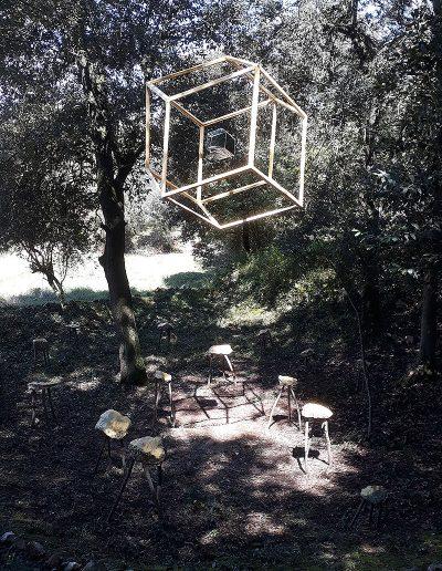 PEP AYMERICH Dodecàedre ròmbic i rusc (Land Art) 2019